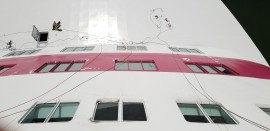 Tallink (Baltic Queen Ship) Bow painting