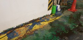 Ecero Line (finlandia ship)car deck water weis painting