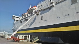 TALLINK (Sea Wind ship) superstructure painting